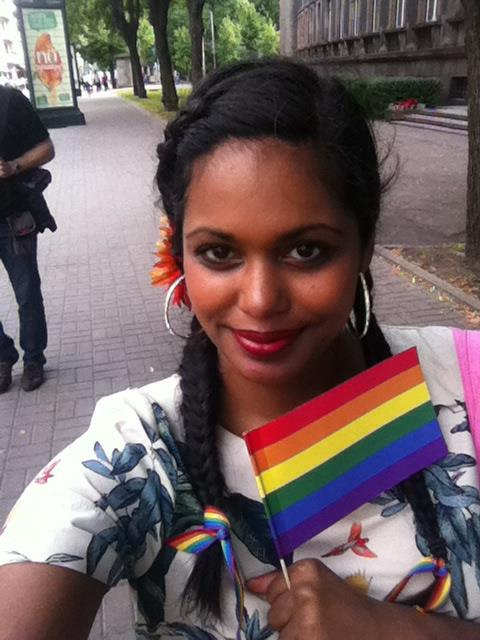 Bildbonus på mig från Europride-paraden i Riga